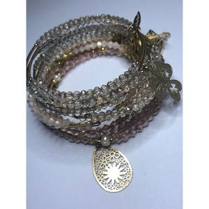 Beaded Bracelets with Charms